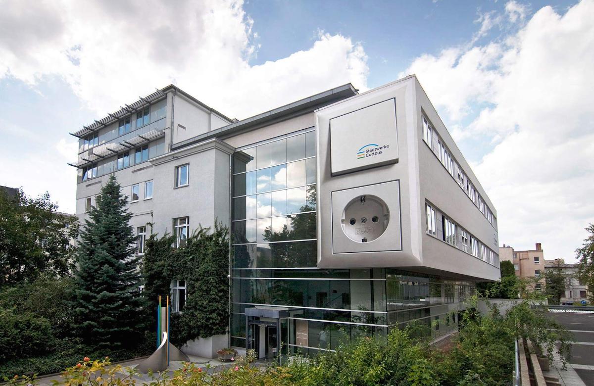 Aussenansicht Kundenzentrum Stadtwerke Cottbus Gmbh